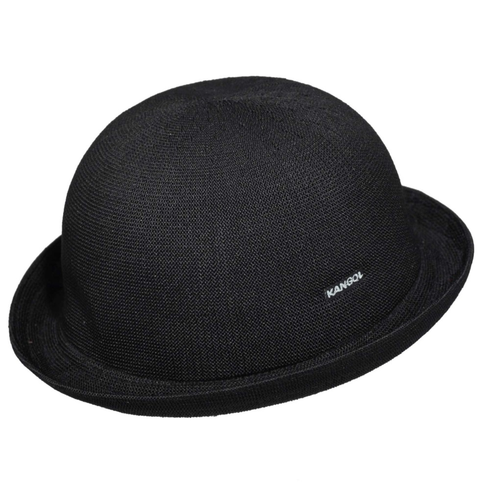 Kangol カンゴール Tropic Bombin BLACK Bowler & Derby Hats 帽子 BLACK