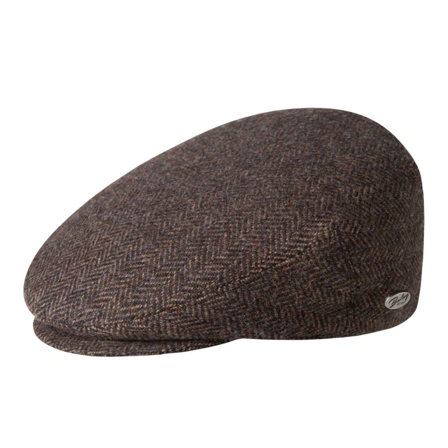 Bailey of Hollywood Lord Herringbone Cap Brown Ivy Caps & Flat Caps 帽子 Brown