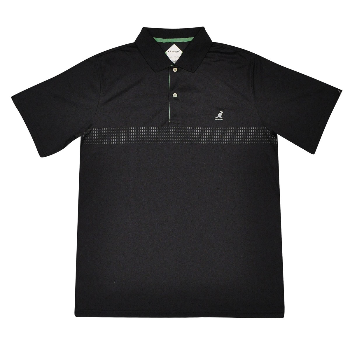 Kangol Golf by SLJ Samuel L. Jackson Golf Ventair Polo Shirt BLACK Polo Shirt 帽子 BLACK
