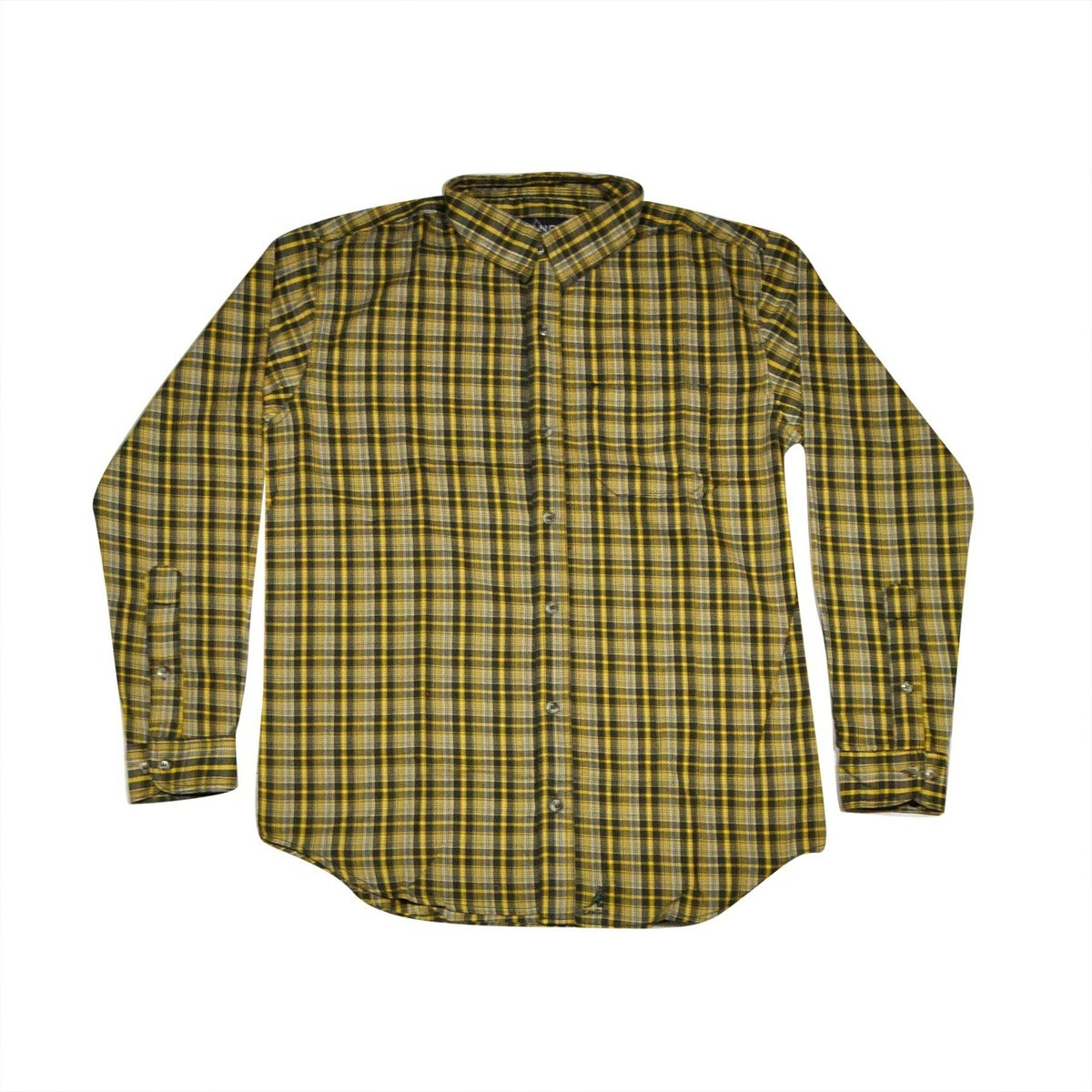 Kangol カンゴール Plaid Single Pocket Button-Up Shirt Deep Green Combo Shirt 帽子 Deep Green Combo