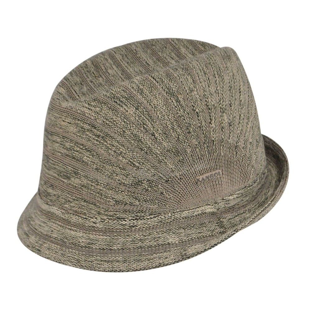 Kangol カンゴール Marl Stripe Duke Putty Trilby 帽子 Putty