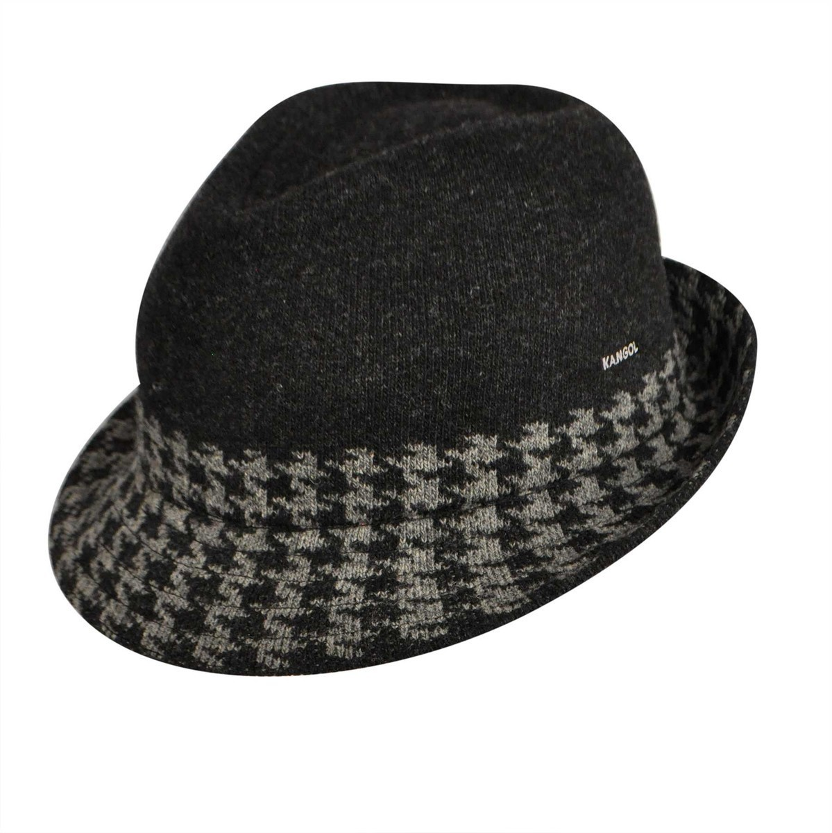 Kangol カンゴール Hounds Stripe Arnold BLACK Trilby 帽子 BLACK