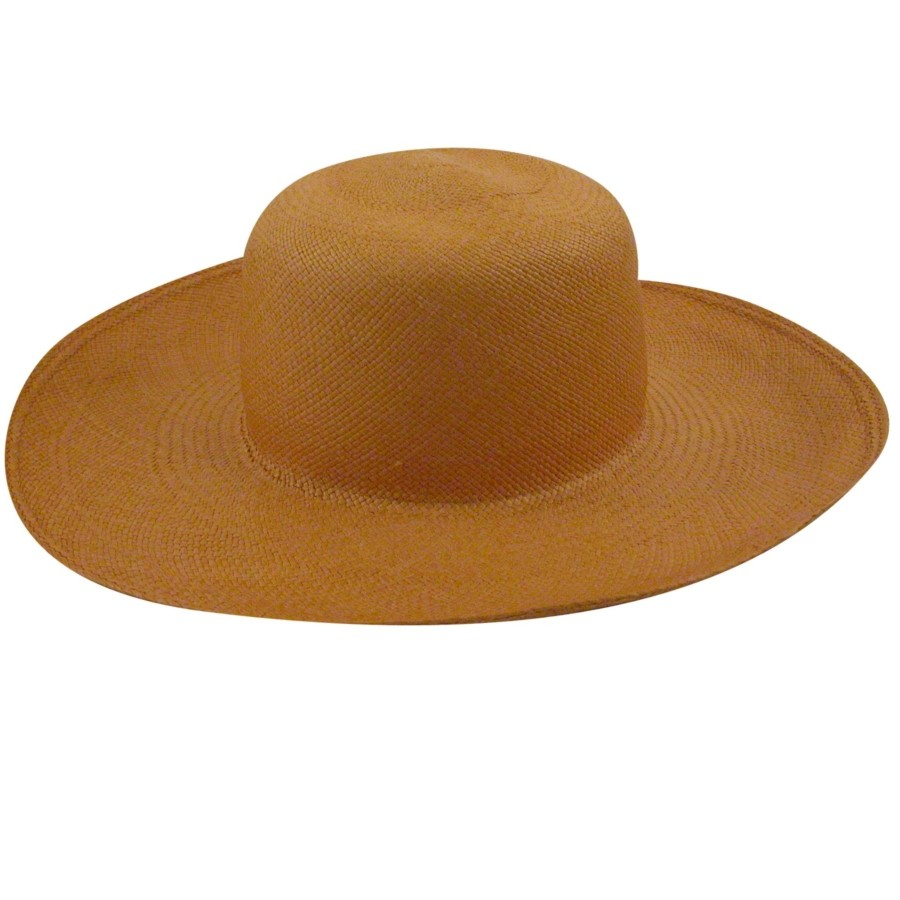 Pantropic Panama Sun Hat Mustard Wide Brims & Floppy Hats 帽子 Mustard