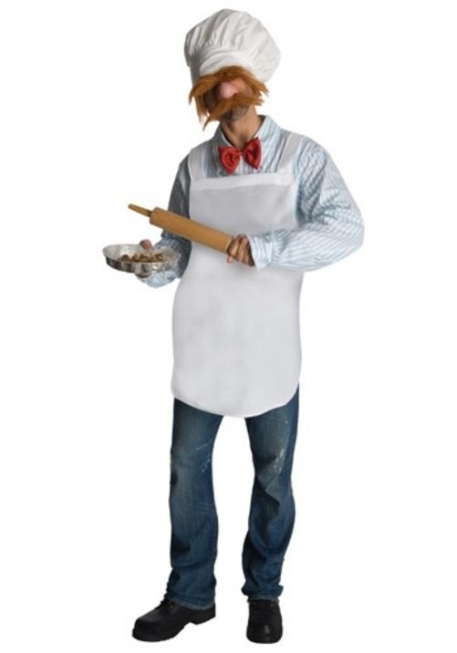 コスプレ ハロウィン SWEDISH シェフ 料理人 大人用 メンズ 男性用 衣装 衣装 学園祭 文化祭 コスチューム 仮装 変装
