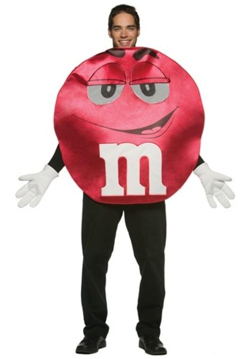 コスプレ ハロウィン レッドM&M チョコレートチョコレート 大人用 メンズ 男性用 衣装 衣装 学園祭 文化祭 コスチューム 仮装 変装