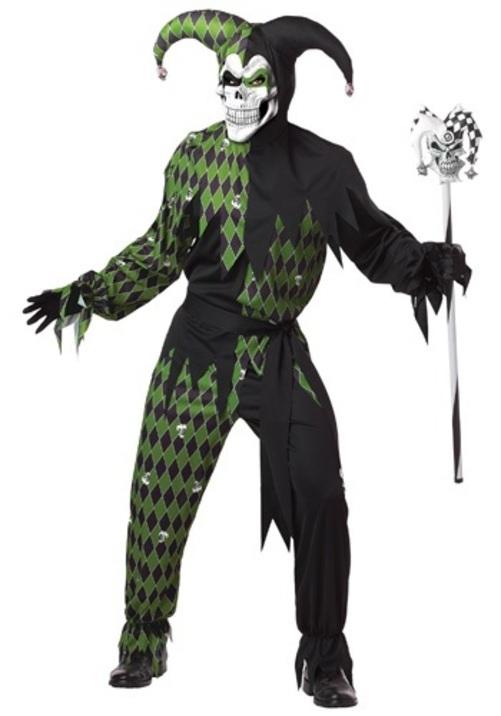 コスプレ ハロウィン グリーン怖いJESTER 大人用 メンズ 男性用 衣装 衣装 学園祭 文化祭 コスチューム 仮装 変装