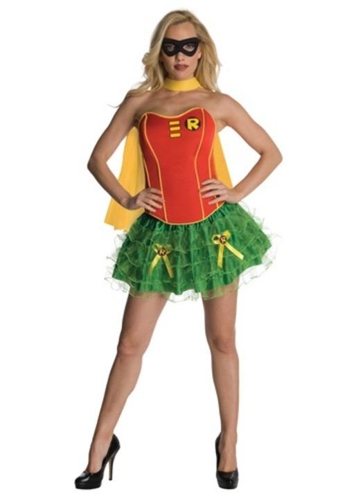 コスプレ ハロウィン セクシー ロビン Robinコルセット 大人用 レディス 女性用 衣装 ドレス ワンピース 衣装 学園祭 文化祭 コスチューム 仮装 変装