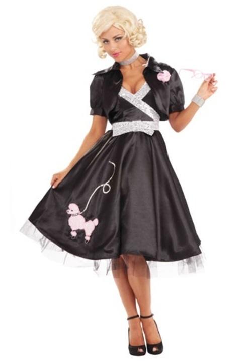 コスプレ ハロウィン 50S プードル 犬 ドッグDIVA 大人用 レディス 女性用 衣装 ドレス ワンピース 衣装 学園祭 文化祭 コスチューム 仮装 変装