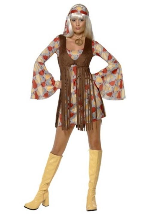 コスプレ ハロウィン WO1960S GROOVY ベイビー 大人用 レディス 女性用 衣装 ドレス ワンピース 衣装 学園祭 文化祭 コスチューム 仮装 変装