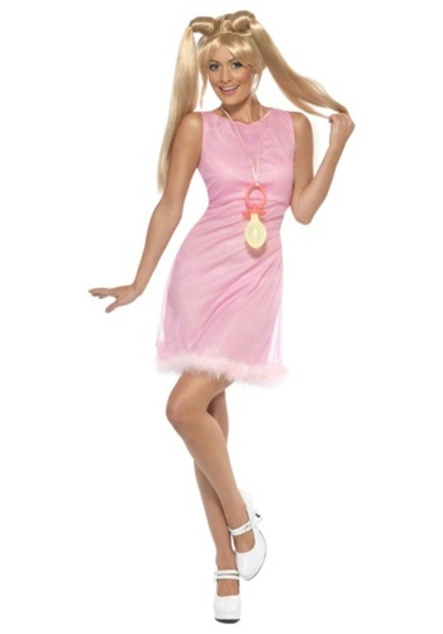 【全品P5倍】ベイビーPOWER コスプレ コスチューム 大人用 レディス 女性用 衣装 ドレス ワンピース 仮装 衣装 忘年会 パーティ 学園祭 文化祭 学祭
