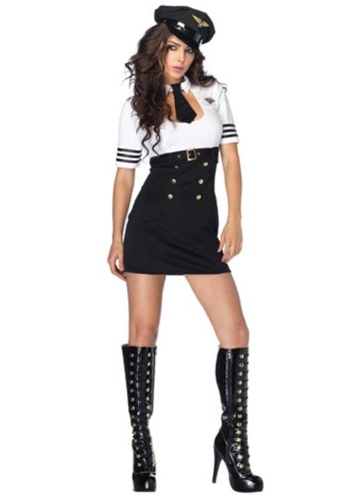 コスプレ ハロウィン FIRST CLASS パイロット 操縦士 飛行機キャプテン 船長 大人用 女性用 衣装 ドレス ワンピース 衣装 学園祭 文化祭 コスチューム 仮装 変装