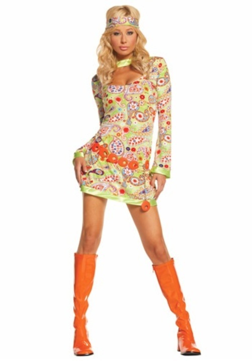 GROOVY CHICK コスプレ コスチューム 大人用 女性用 衣装 ドレス ワンピース 仮装 衣装 忘年会 パーティ 学園祭 文化祭 学祭