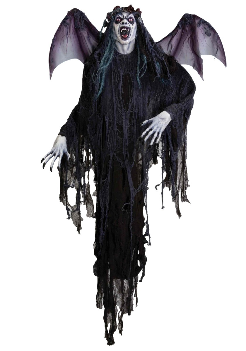 8 FT. HANGING VAMPIRE PROP WITH WINGS クリスマス ハロウィン コスプレ コスチューム 仮装