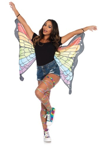 Pair of Rainbow Butterfly 羽 ハロウィン コスプレ 衣装  仮装 小道具 おもしろい  イベント パーティ ハロウィーン 学芸会 学園祭 学芸会 ショー お遊戯会 二次会 忘年会 新年会 歓迎会 送迎会 出し物 余興 誕生日 発表会 バレンタイン ホワイトデー
