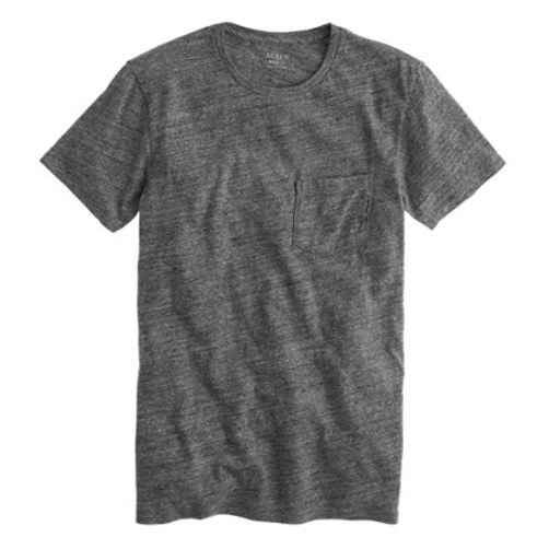 Slim flagstone pocket tee hthr slate