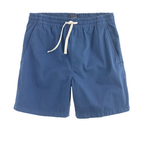 Dock short in garment-dyed chino paradise blue