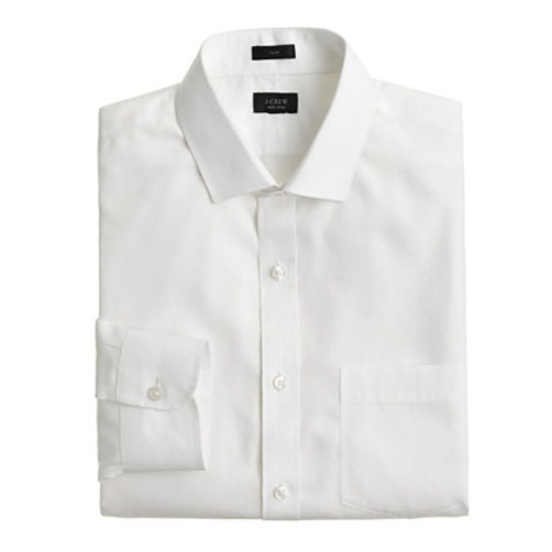 Ludlow Traveler shirt in white white