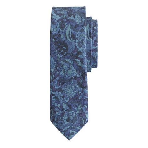 Cotton tie in Liberty Kindle floral multi coast navy