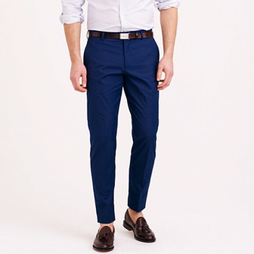 Ludlow suit pant in Italian cotton pique french navy