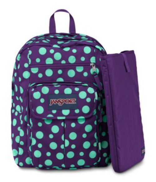 JANSPORT ジャンスポーツ バックパック リュックサック DIGITAL STUDENT PURPLE NIGHT MINT TO BE GREEN SYLVIA DOT バッグ カバン