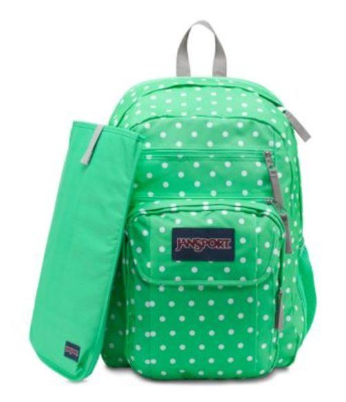 ジャンスポーツ JANSPORT DIGITAL STUDENT BACKPACK SEAFOAM GREEN WHITE DOTS バッグ 鞄 リュックサック バックパック