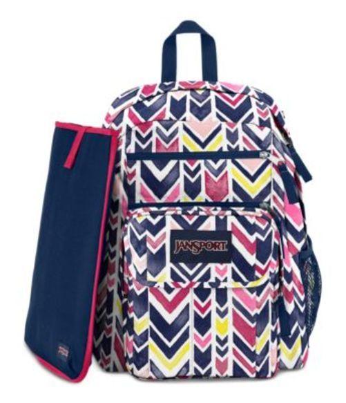 ジャンスポーツ JANSPORT DIGITAL STUDENT BACKPACK NAVY WATERCOLOR CHEVRON バッグ 鞄 リュックサック バックパック