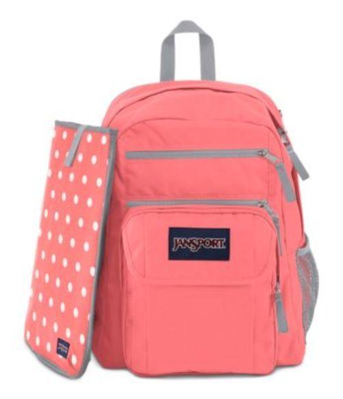 ジャンスポーツ JANSPORT DIGITAL STUDENT BACKPACK CORAL SPARKLE WHITE DOTS バッグ 鞄 リュックサック バックパック