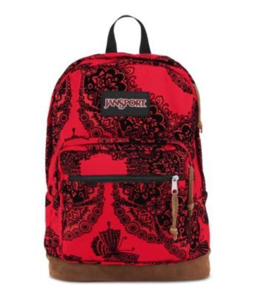 ジャンスポーツ JANSPORT RIGHT PACK EXPRESSIONS BACKPACK RED TAPE ORNATE FLOCK バッグ 鞄 リュックサック バックパック