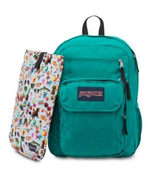 ジャンスポーツ JANSPORT DIGITAL STUDENT BACKPACK SPANISH TEAL MULTI STICKERS バッグ 鞄 リュックサック バックパック