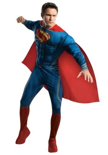全品P5倍】スーパーマン イベント 【BLACK FRYDAY Man ハロウィン 大人用 メンズ パーティ コスプレ 男性 デラックス 衣装 コスチューム 学芸会 ハロウィーン Steel 男性用 of 仮装