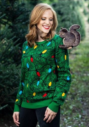 大人用 3D Squirrel in the Christmas Tree Ugly Sweater ハロウィン メンズ コスプレ 衣装 男性 仮装 男性用 イベント パーティ ハロウィーン 学芸会