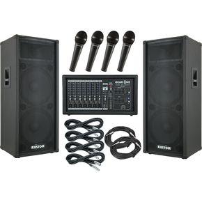 ギア ワン Gear One PA2400  Kustom KPC215H PA Package ライブサウンド スピーカー