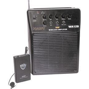 ナディ Nady WA 120 Portable PA System with Wireless Omni-Lavalier Mic Channel P ライブサウンド スピーカー