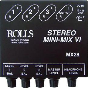 ロールス Rolls MX28 Mini-Mix VI ライブサウンド スピーカー ミキサー