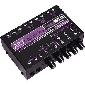 ART PowerMIX III - 3 Channel Personal Mixer ライブサウンド スピーカー ミキサー