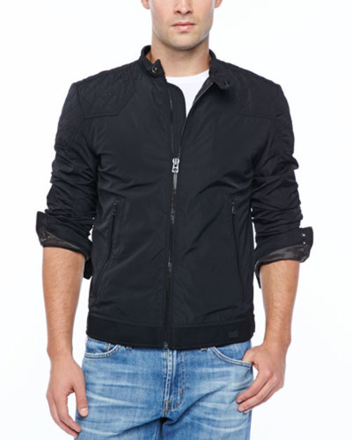 J-Hollis Nylon Teflon Jacket, Black