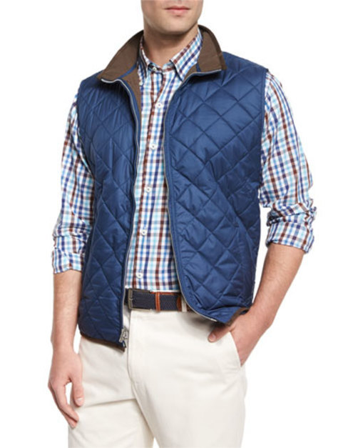 Potomac Lightweight Quilted Vest, Navy