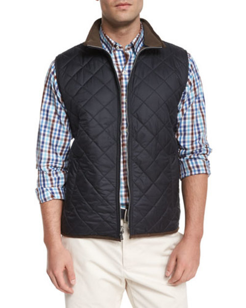Potomac Lightweight Quilted Vest, Black