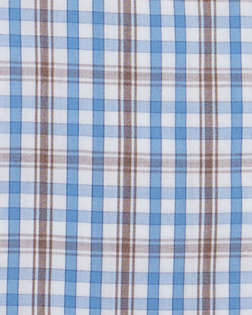 plaid woven dress shirt blue brown mars shop オンライン plaid