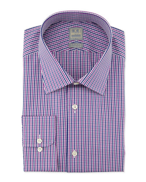 【 開梱 設置?無料 】 Small-Check Woven Dress Shirt, Woven Fuchsia Dress Fuchsia Navy, 鳩山町:62f67510 --- hectorgonzalezmoreno.com