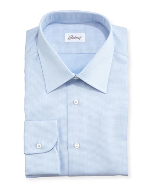 Textured Micro-Check Shirt