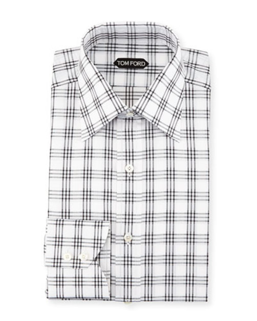 Checkered Dress Shirt, Black White
