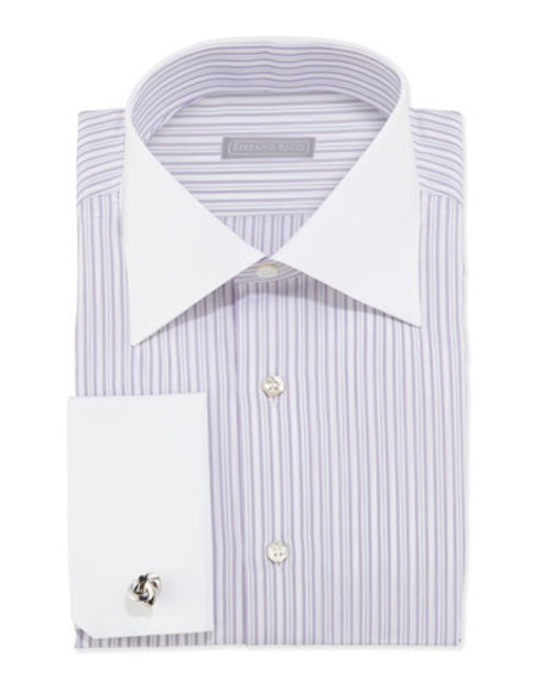 Striped Dress Shirt, Lavender