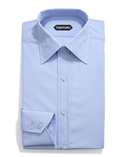 Classic Solid Dress Shirt, Light Blue