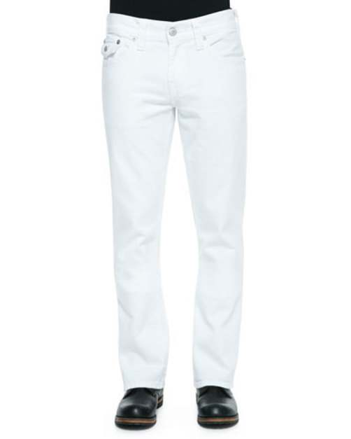 Ricky Five-Pocket Slim-Fit Jeans, White
