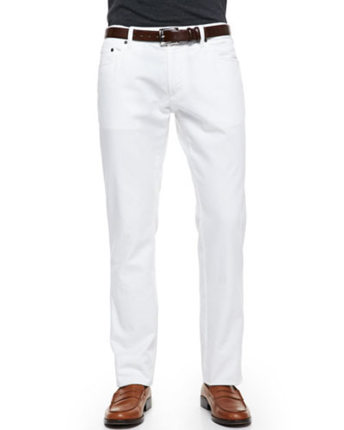 5-Pocket Denim Jeans, White
