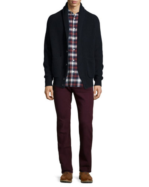 Luxe Performance: Slimmy Colored Jeans, Crimson