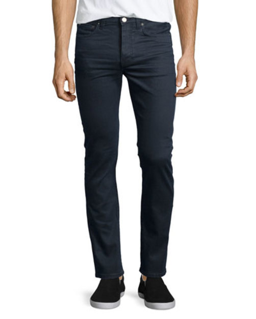 Town Moon Skinny Jeans, Gray Blue