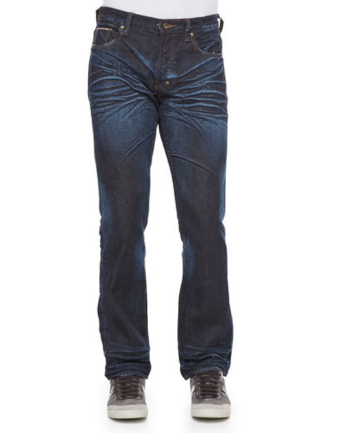 Barracuda Straight-Leg Selvedge Jeans, 6M Dark Blue
