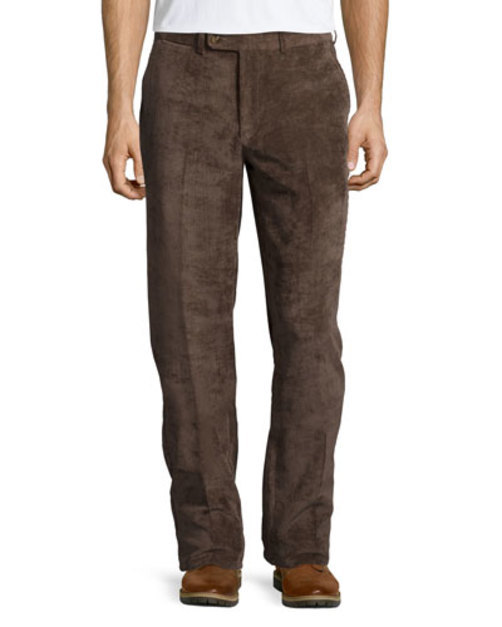 NanoLuxe Corduroy Pants, Brown